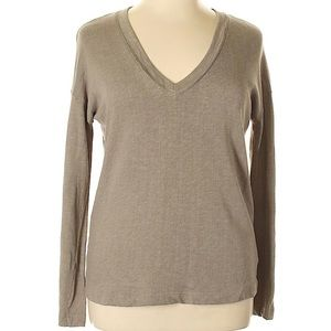 James Perse boxy v neck terry pullover sweater